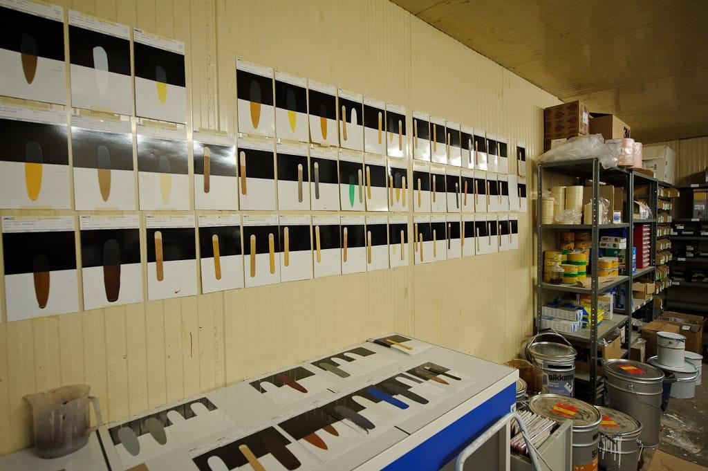 Laboratoire de contretypage Fibex mise à la teinte